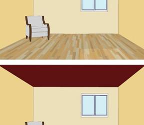 Effetti ottici dei colori in casa