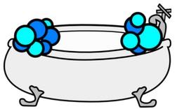 La vasca da bagno con bordo a sfioro