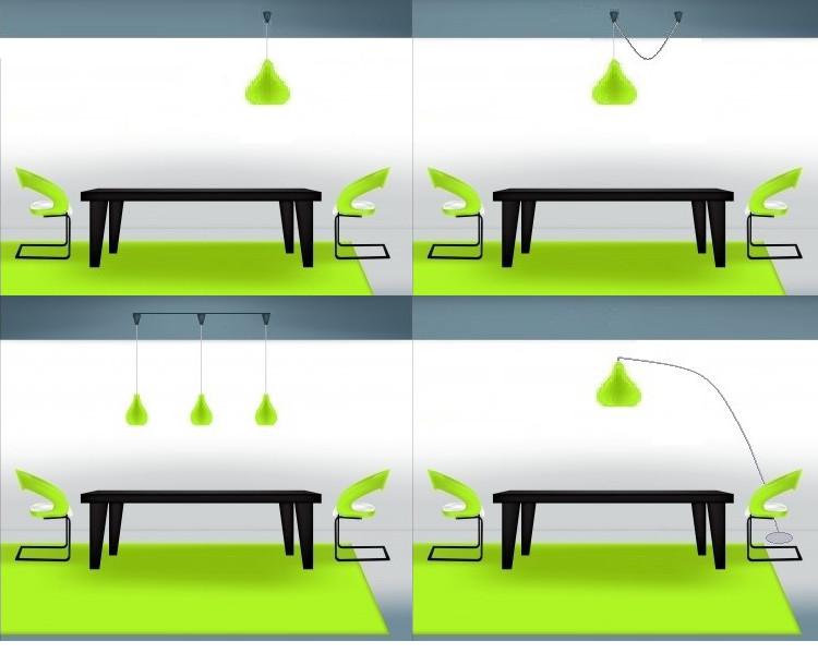 Punto luce decentrato sul tavolo spesso ne nasce una - Lampade sopra tavolo da pranzo ...