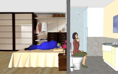 Camera da letto troppo vicina al bagno