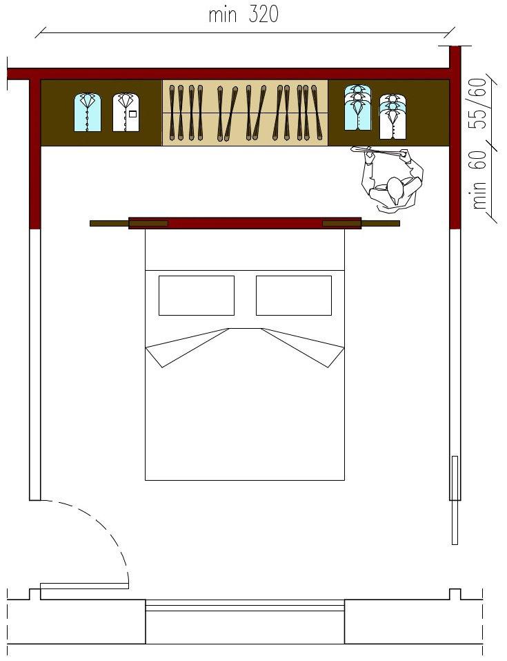 Dimensioni della cabina armadio architettura a domicilio for Misure cabina armadio