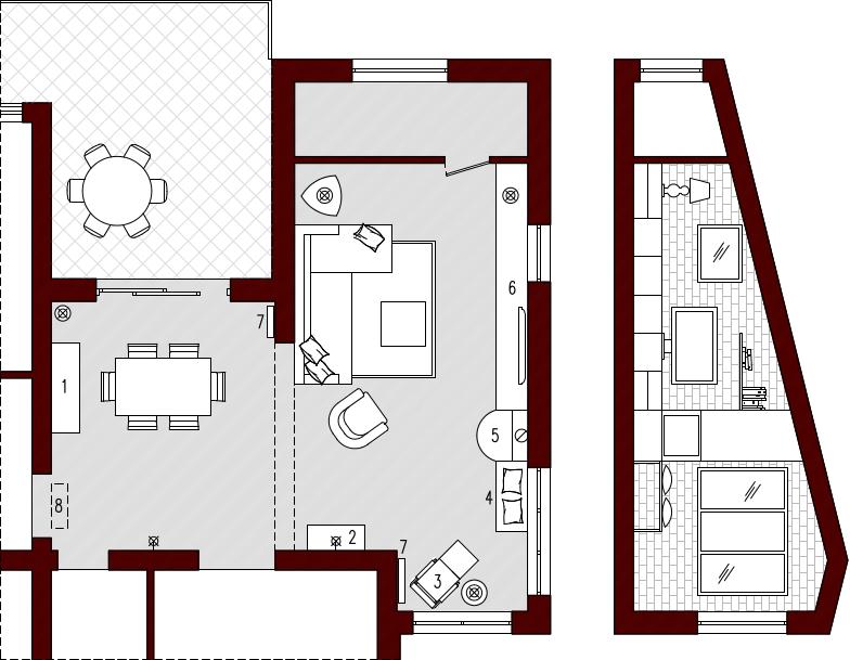 progetto 40 mq architettura a domicilio