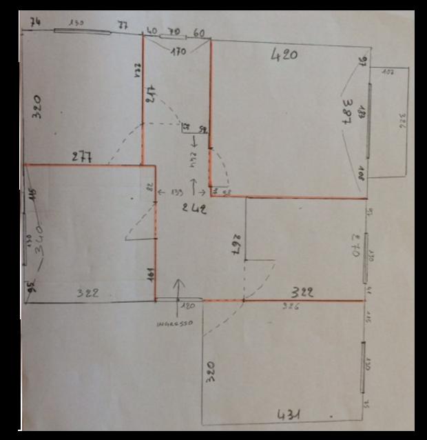 Progetto 50 mq architettura a domicilio - Planimetria casa 50 mq ...