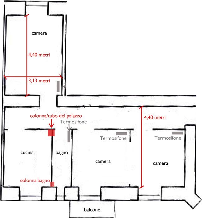 Progetto 60 mq architettura a domicilio for Appartamento 60 mq design