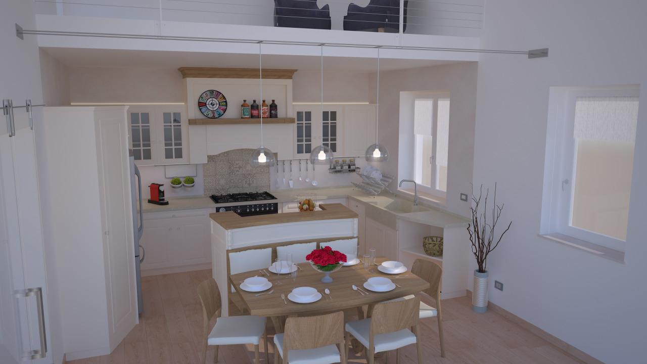 Progetto 24 mq architettura a domicilio for Cucina soggiorno 15 mq
