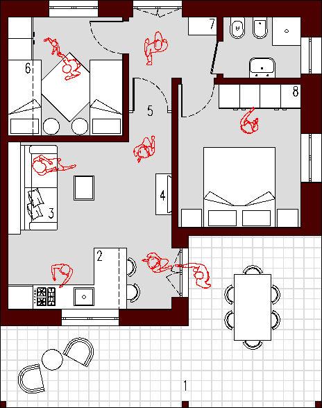 Progetto 45 mq architettura a domicilio for Progetti di costruzione di appartamenti