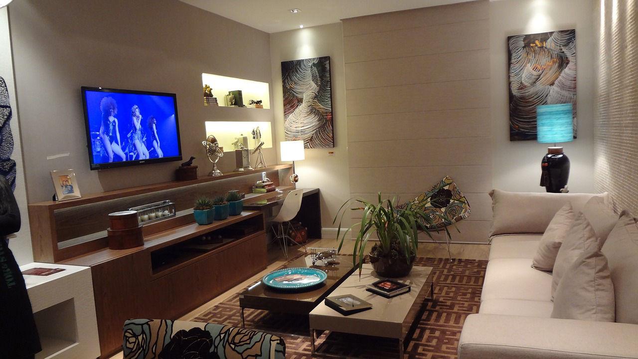 angolo studio in soggiorno-architettura a domicilio® - Zona Studio In Soggiorno