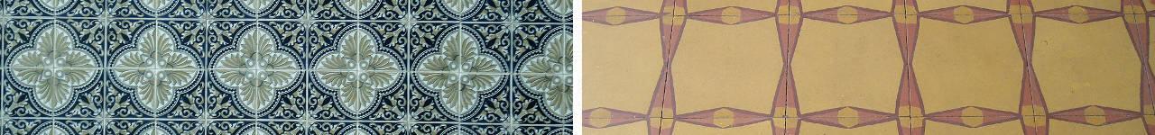 pavimento in formati disegni geometrici anni 70 80