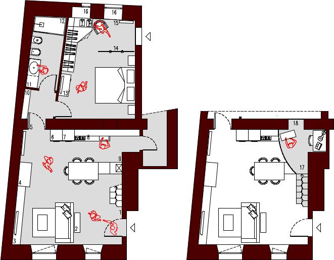 Progetto 55 mq architettura a domicilio for Planimetrie cottage con soppalco