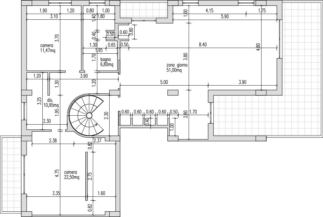 Progetto 120 mq architettura a domicilio for Planimetrie per costruire una casa