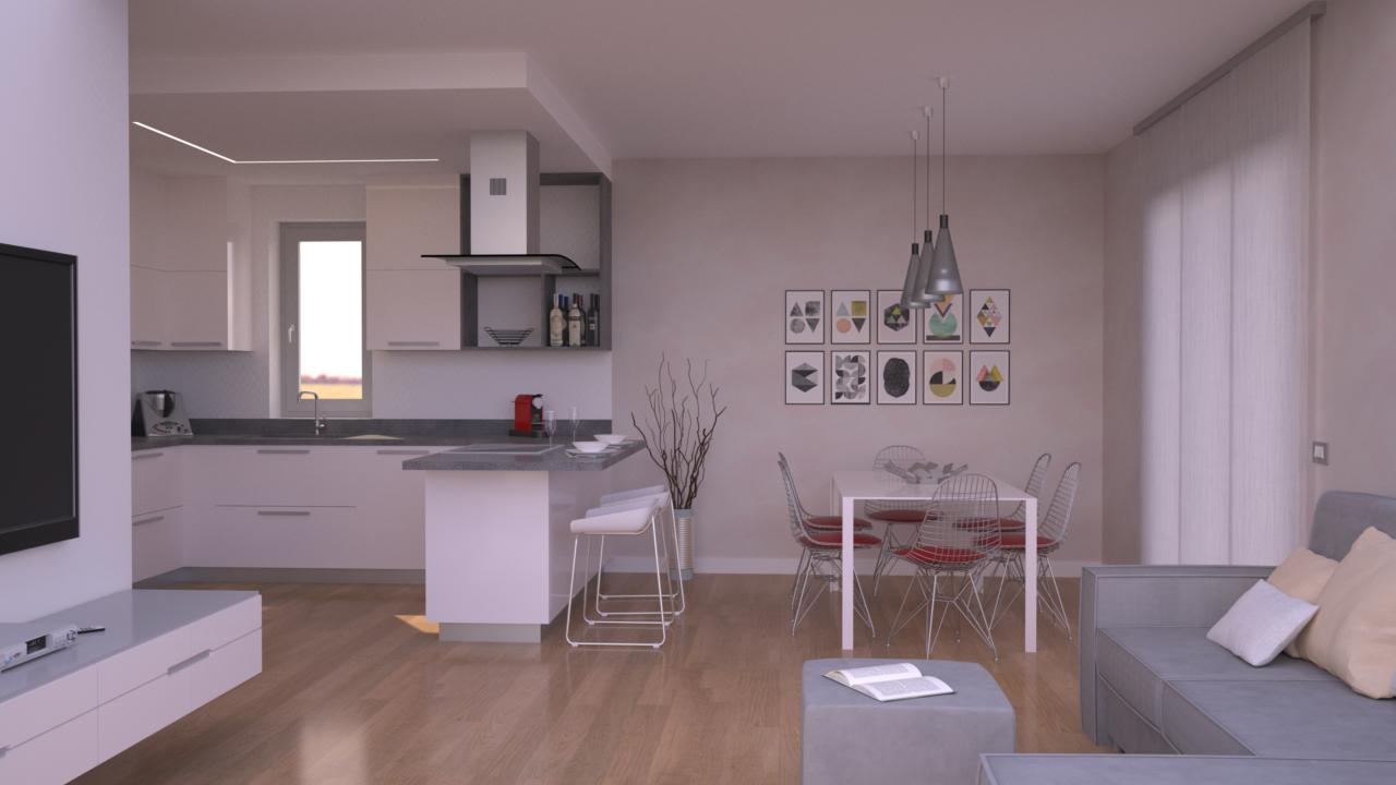 Progetto 85 mq architettura a domicilio - Arredare cucina 4 mq ...