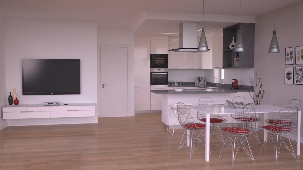 Progetto 85 mq architettura a domicilio for Ristrutturare appartamento 75 mq