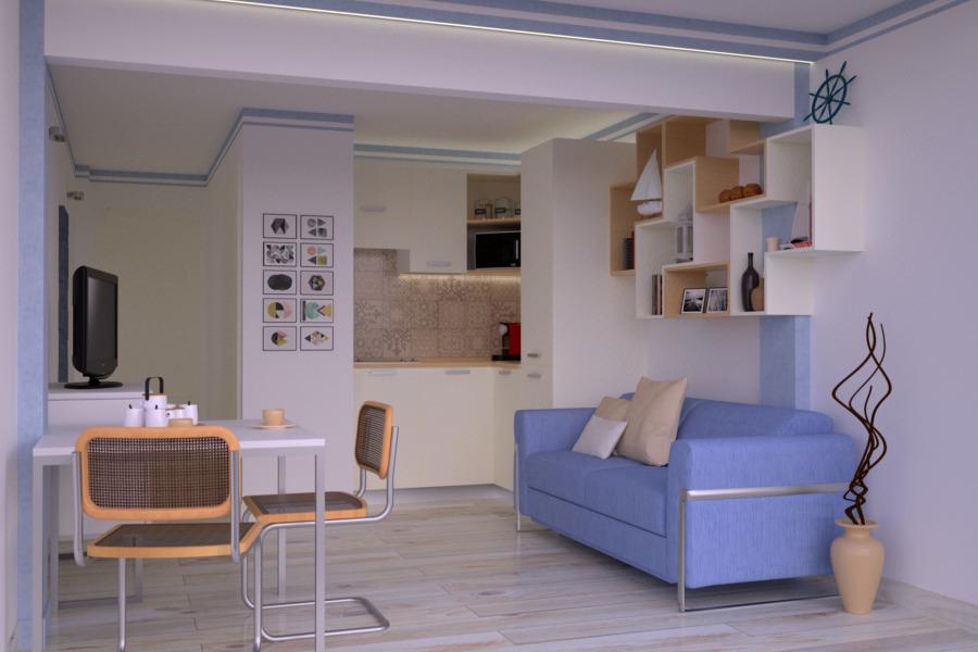 Progetto 20 mq architettura a domicilio for Arredare monolocale 20 mq