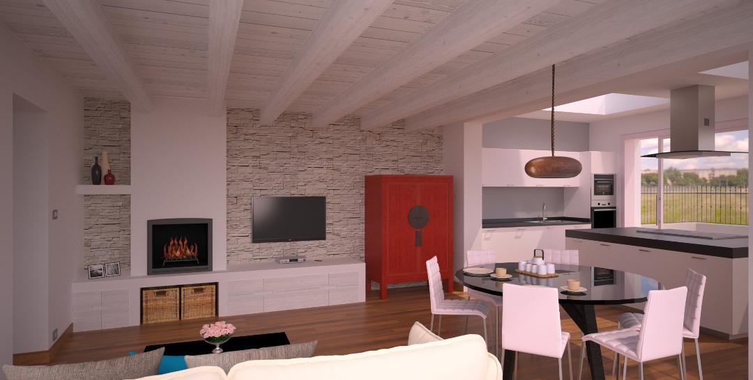 progetto 40 mq-architettura a domicilio® - Soggiorno Cucina 40 Mq