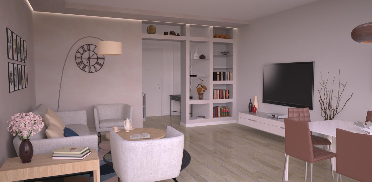 Pittura Vetrificata Per Cucina progetto 50 mq-architettura a domicilio®