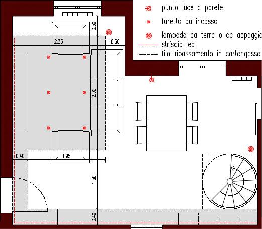 Progetto 30 mq architettura a domicilio for Disegnare piani di casa online