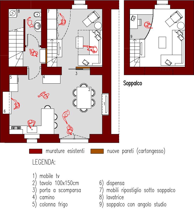 Progetto 170 mq for Creatore piano terra online