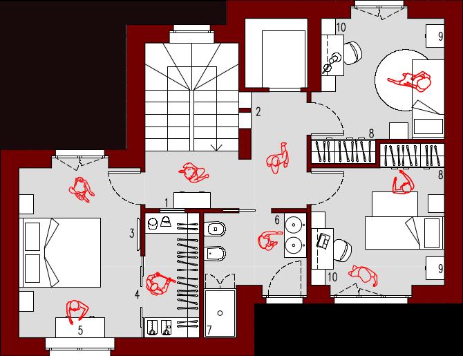 Progetto 55 mq architettura a domicilio for Progetto casa 40 mq
