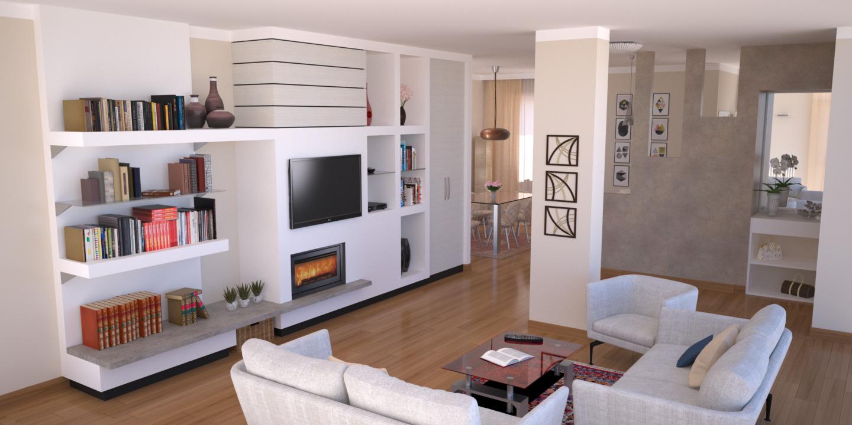 Pittura Vetrificata Per Cucina progetto 115 mq-architettura a domicilio®