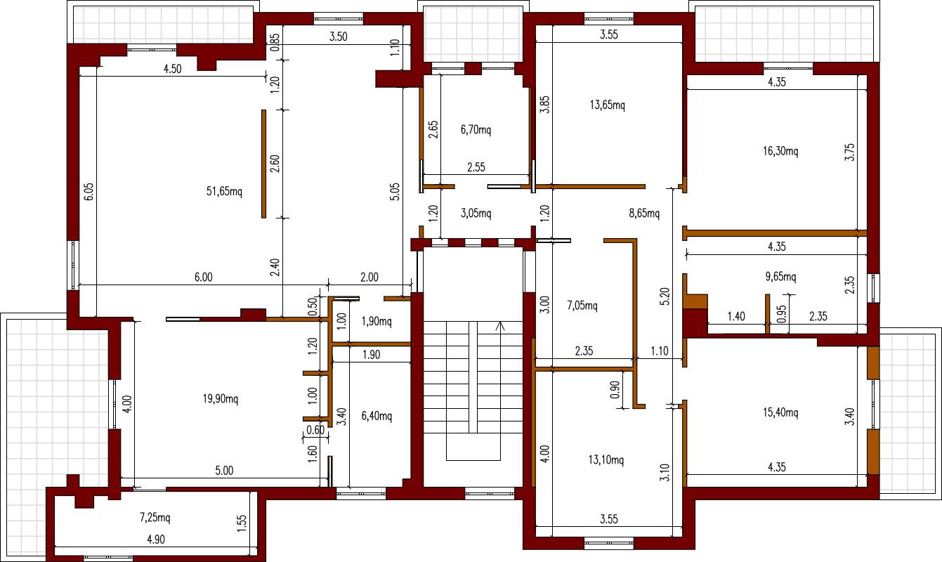Progetto 190 mq architettura a domicilio - Planimetria casa 60 mq ...
