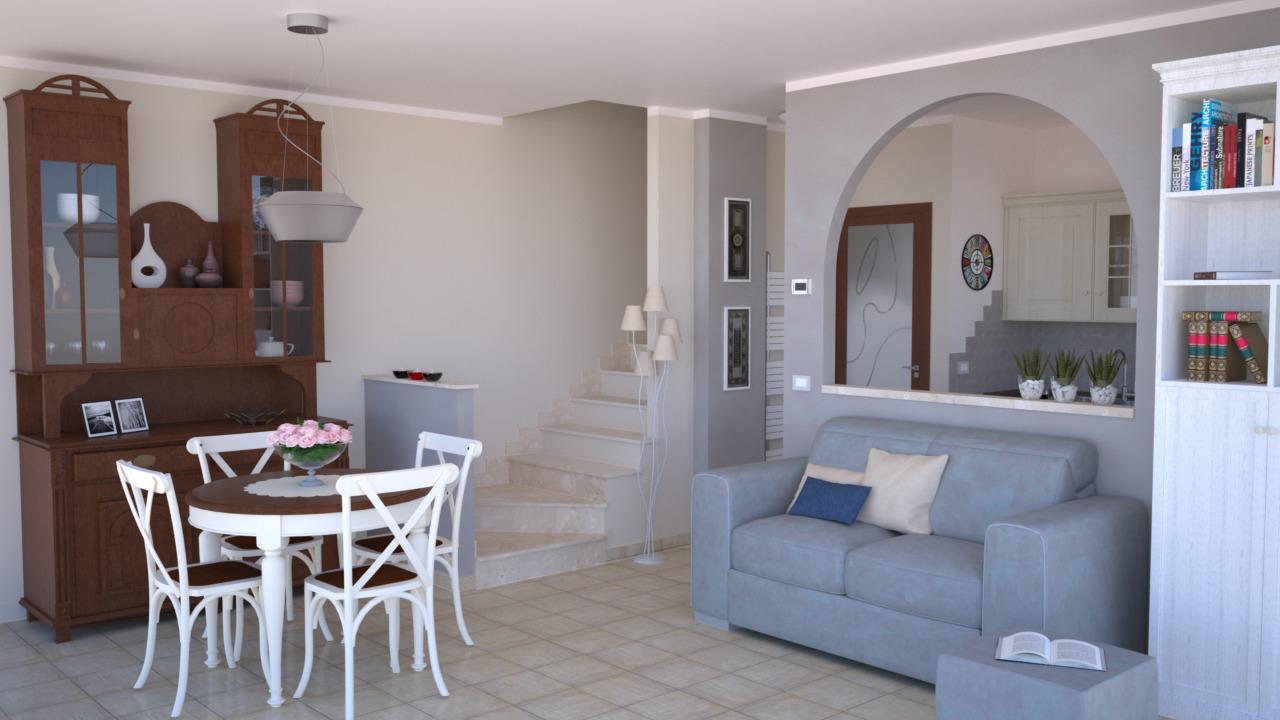 Progetto 25 mq architettura a domicilio - Cucina soggiorno open space 25 mq ...