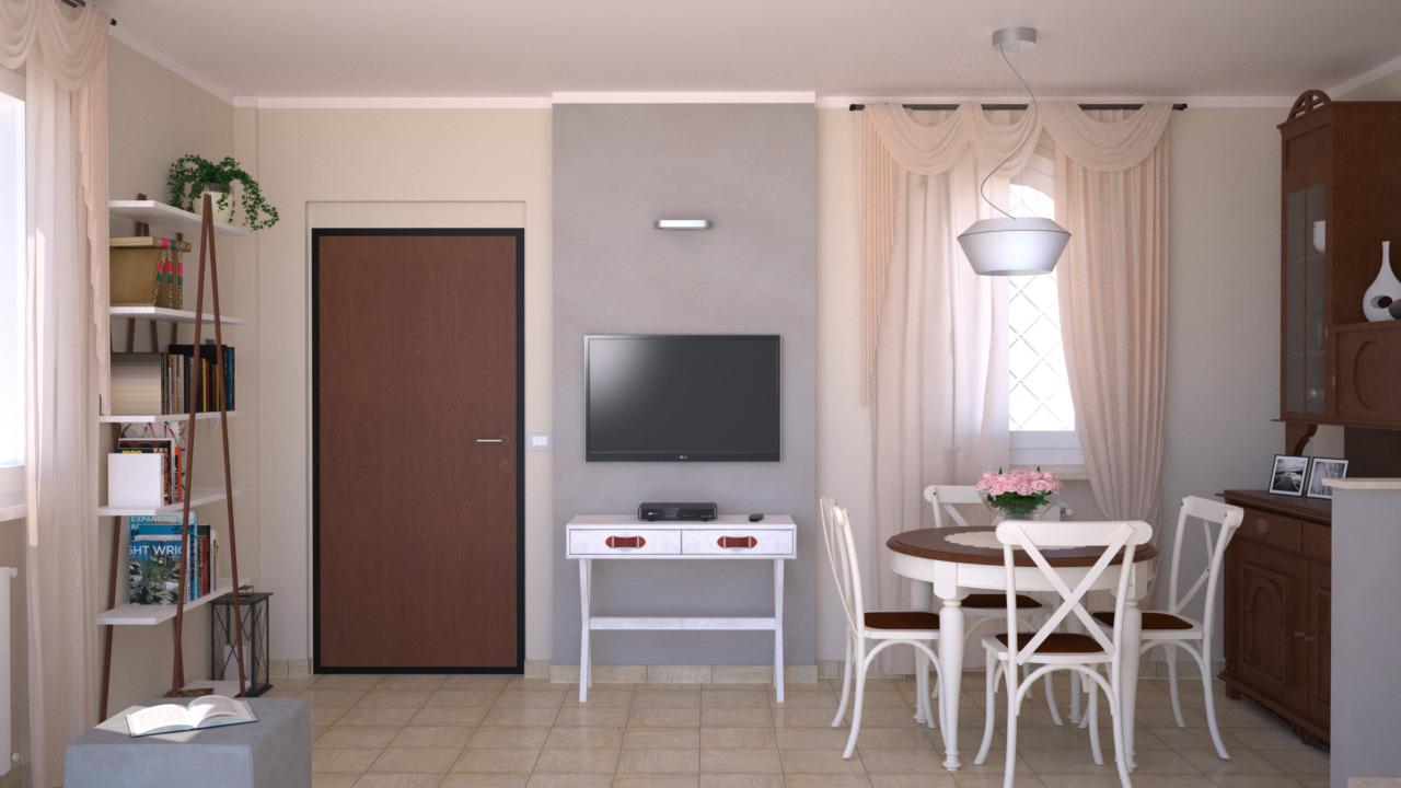 Progetto 25 mq architettura a domicilio - Arredare cucina soggiorno 20 mq ...