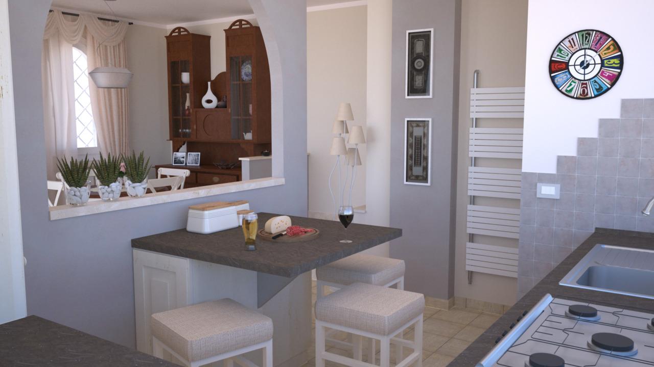 Progetto 25 mq architettura a domicilio - Arredare cucina 4 mq ...