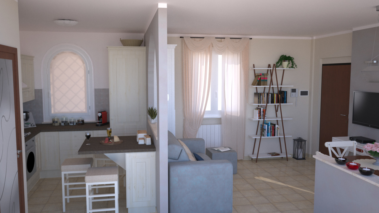 Progetto 25 mq architettura a domicilio for Progetto zona giorno