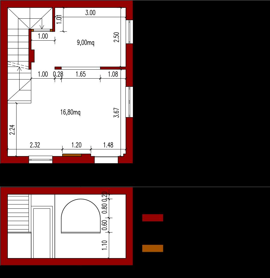 Planimetria Casa Con Misure progetto 25 mq-architettura a domicilio®