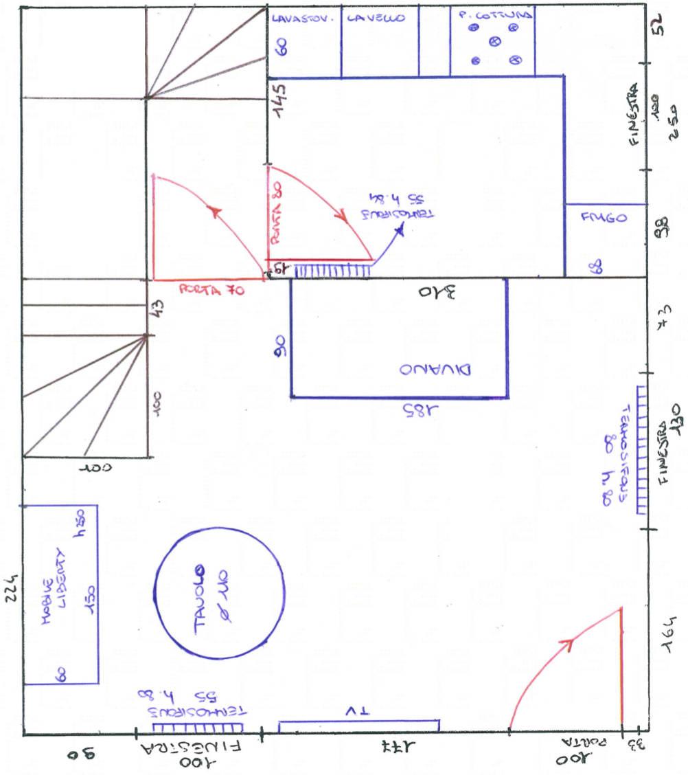 Casa 80 Mq Pianta progetto 25 mq-architettura a domicilio®