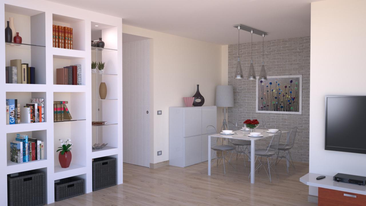 Progetto online 40 mq architettura a domicilio - Porte scorrevoli per cucina ...