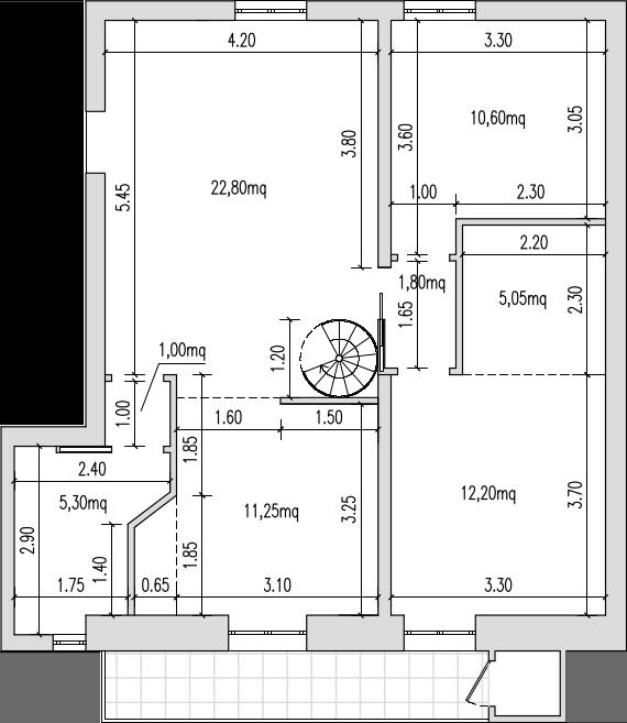 Progetto 50 mq come arredare una casa di mq ecco progetti for Come fare una planimetria online