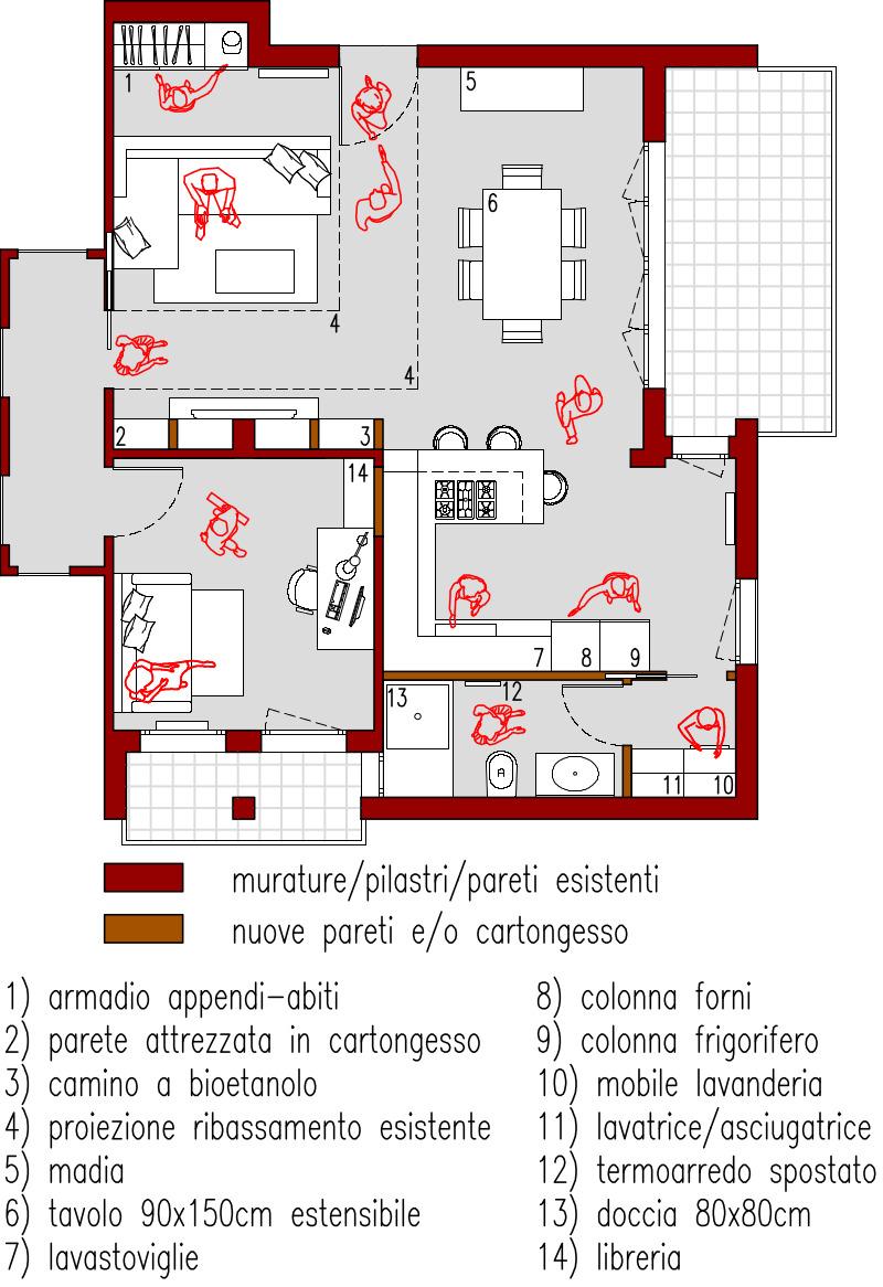 Progetto 52 mq architettura a domicilio - Creare planimetria casa ...