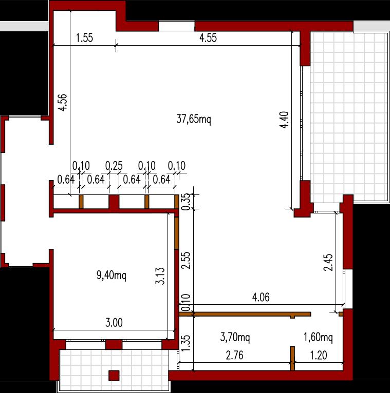 Progetto 52 Mq Architettura A Domicilio