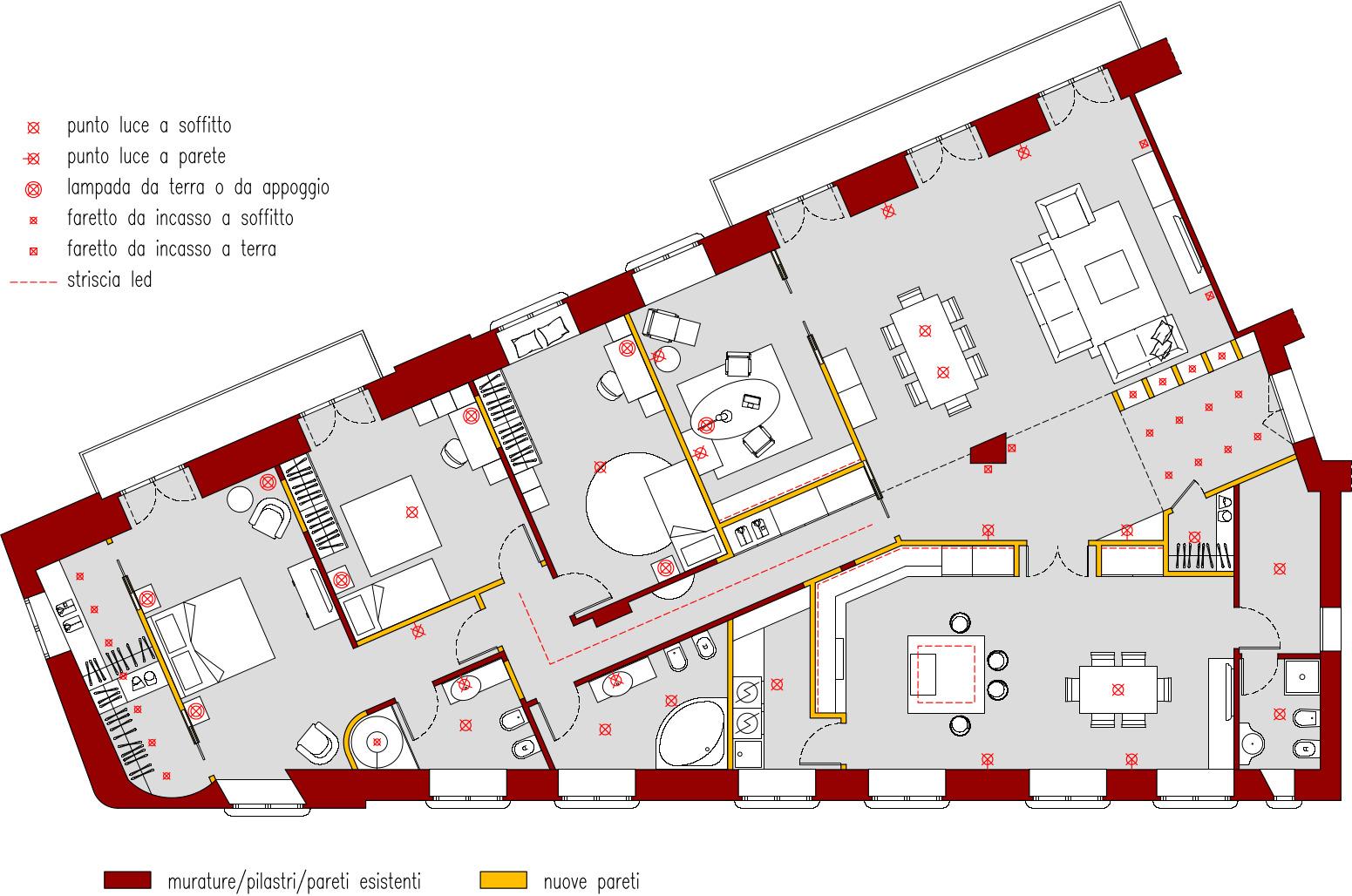 progetto 210 mq-Architettura a domicilio®
