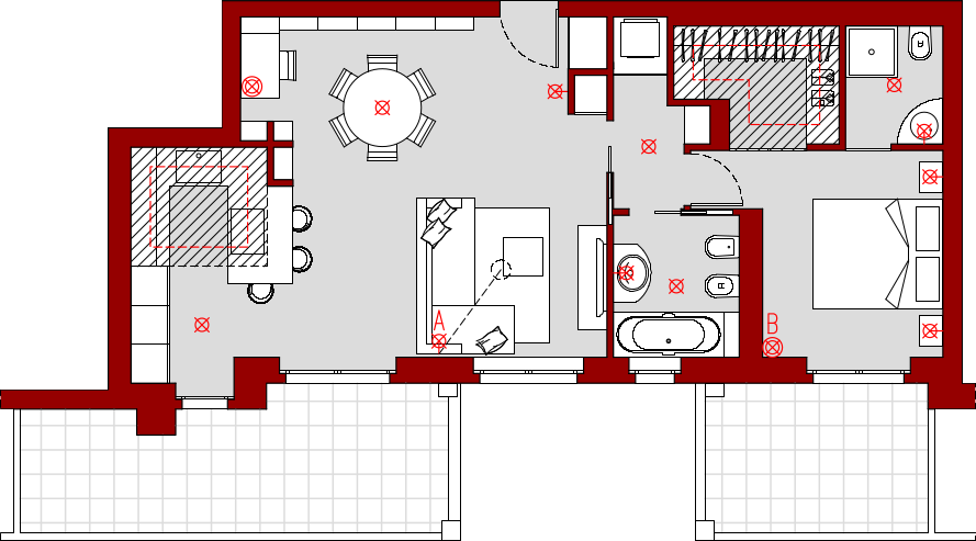 progetto 60 mq-Architettura a domicilio®