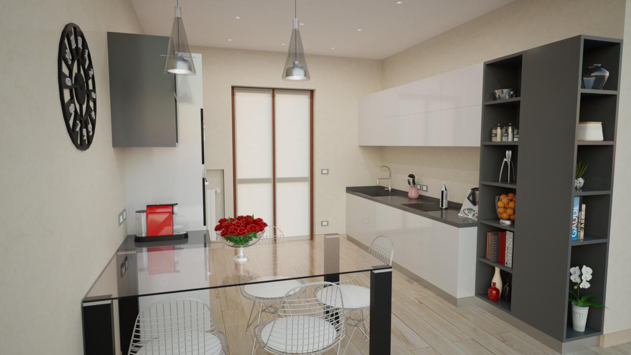 Pittura Vetrificata Per Cucina progetto 40 mq-architettura a domicilio®
