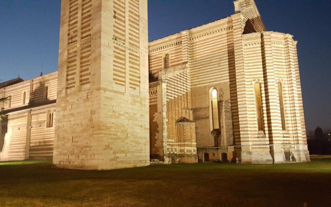 Basilica di San Zeno: sorgere da un prato!