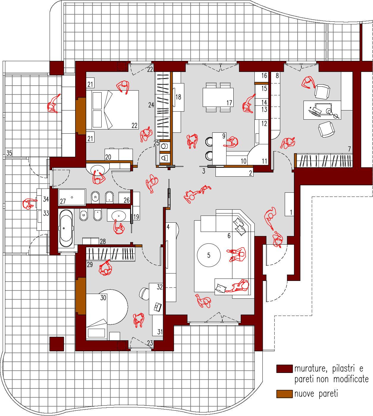 Progetto Appartamento 85 Mq progetto 105 mq-architettura a domicilio®